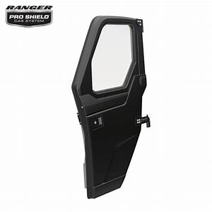 Poly Front Door Set With Manual Windows  Black