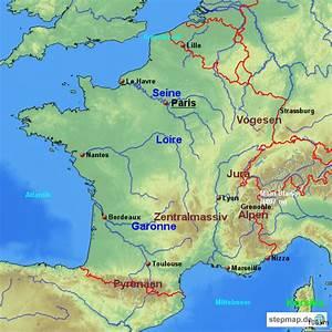 Schöne Städte In Frankreich : gebirge fl sse st dte von winkel2000 landkarte f r frankreich ~ Buech-reservation.com Haus und Dekorationen