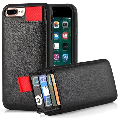 Iphone 7 plus iphone 8 plus wallet case with card holder,ot onetop premium pu leather kickstand card slots case,double magnetic clasp and durable shockproof cover 5.5 inch(brown). LAMEEKU bnjfr iPhone 7 Plus Wallet Case