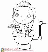 Potty Training Coloring Pages Boy Boys Toilet Elmo Baby Activities Cute Die Children Worksheets Template Cloth Therapy Fun Fuer Party sketch template