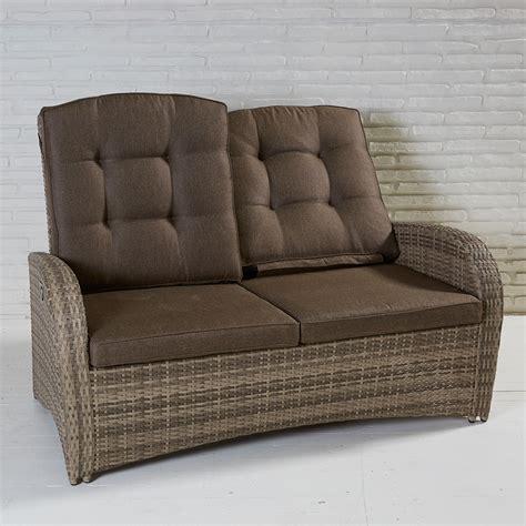 gartenmöbel 2 sitzer 2 sitzer living sofa turin natur geflecht polyrattan