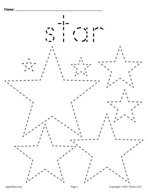 stars tracing worksheet tracing shapes worksheets supplyme