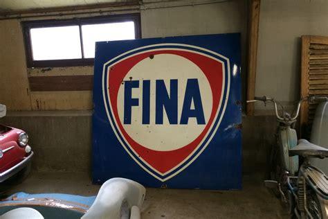 tres grande plaque emaillee fina indus factory