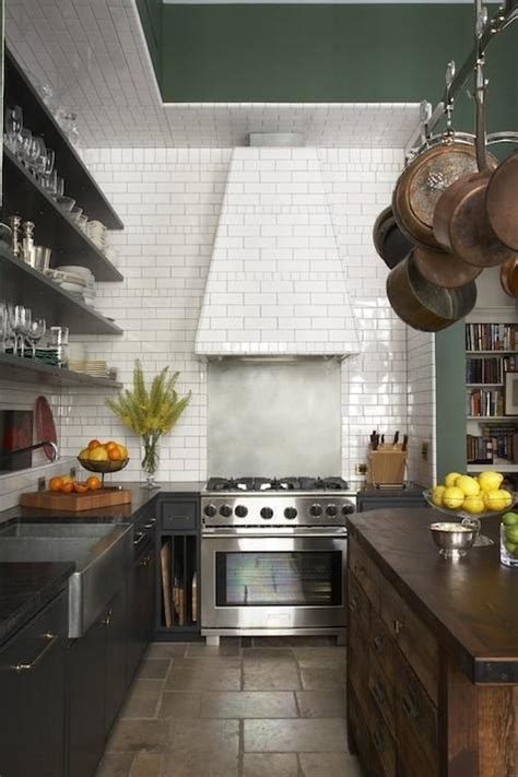subway tiled range hood contemporary kitchen benjamin moore marthas vineyard  nyc