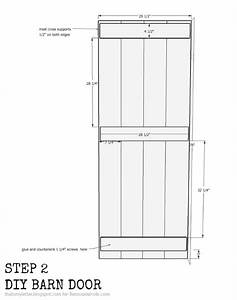 remodelaholic diy sliding barn door inexpensive hardware With barn door width