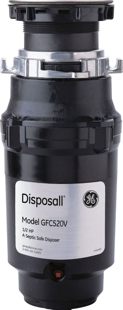 gfcv ge  hp continuous feed garbage disposer  corded black