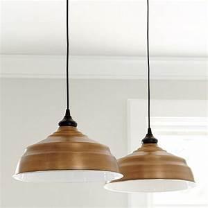 Large industrial copper shade pendant adapter ballard