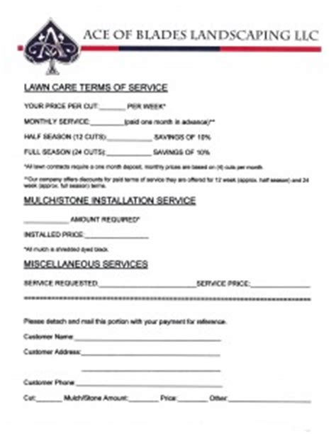 free lawn mowing flyer and bid sheet lawn care business