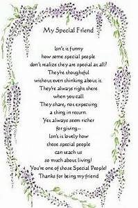 Special Friends poems | special friend | poems | Pinterest ...