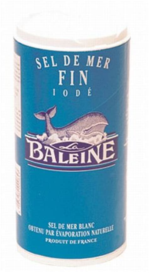 composition du sel de cuisine sel de mer fin iode boite verseuse 500g