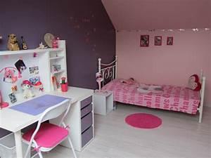 stunning deco chambre fille rose et violet images design With chambre violet et rose