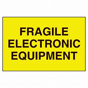 fragile labels fragile electronic equipment from seton With electronic shipping label