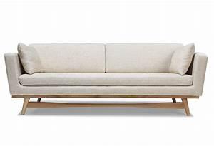 canape 3 places profond avec une structure et un pietement With tapis d entrée avec fauteuil canape scandinave