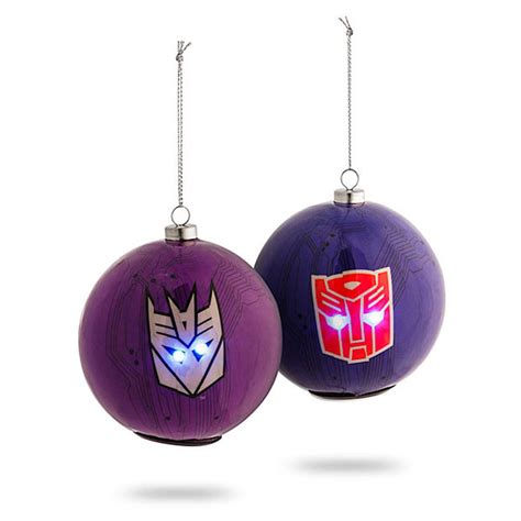 transformers ornaments have light up eyes technabob
