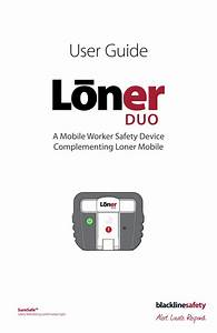 Loner Duo User Guide By Blackline Ux