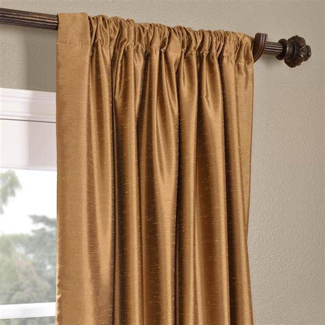 Buy Empire Gold Yarn Dyed Faux Dupioni Silk Curtains
