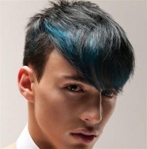 Blue Low Lights Mens Hairstyles Hairflips Hair