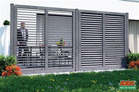 Garten Sichtschutz Holz Lamellen sichtschutz mit verstellbaren lamellen
