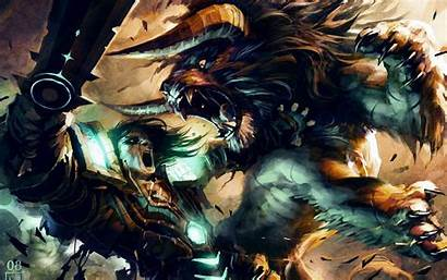 Druid Wallpapers Fight Cat Cave Card