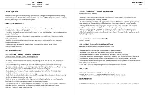 99 free professional resume formats designs livecareer