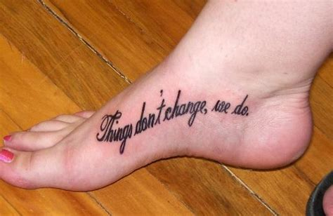 meaningful quote foot tattoo design ideas