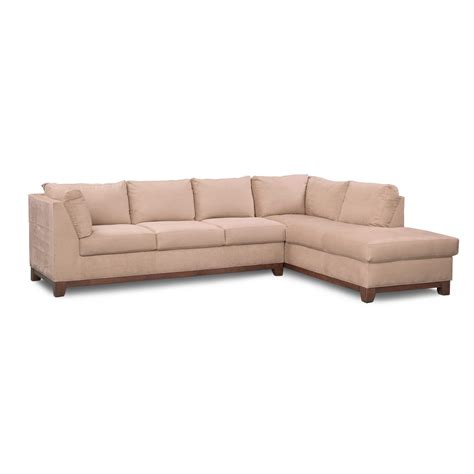 right facing chaise sectional soho 2 sectional with right facing chaise