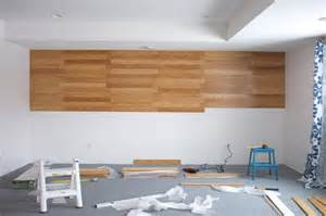 Cut Laminate Flooring From Top Or Bottom by Diy Bamboo Focal Wall