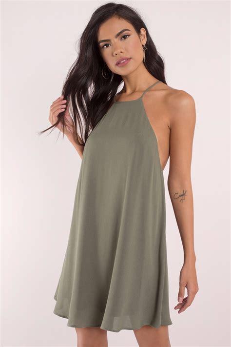 Swing Dresses by Olive Dress Green Dress Swing Dress Shift