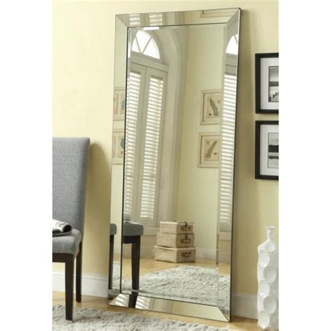floor mirror mirrored frame coaster accent mirrors contemporary floor mirror with mirrored frame coaster fine furniture
