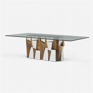 168: PAUL EVANS, Faceted dining table