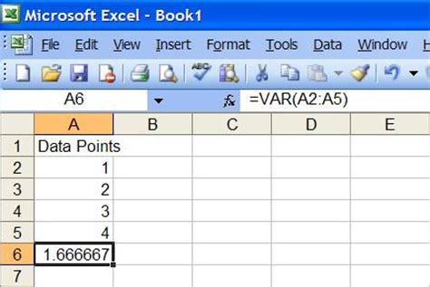 compute sle variance using excel