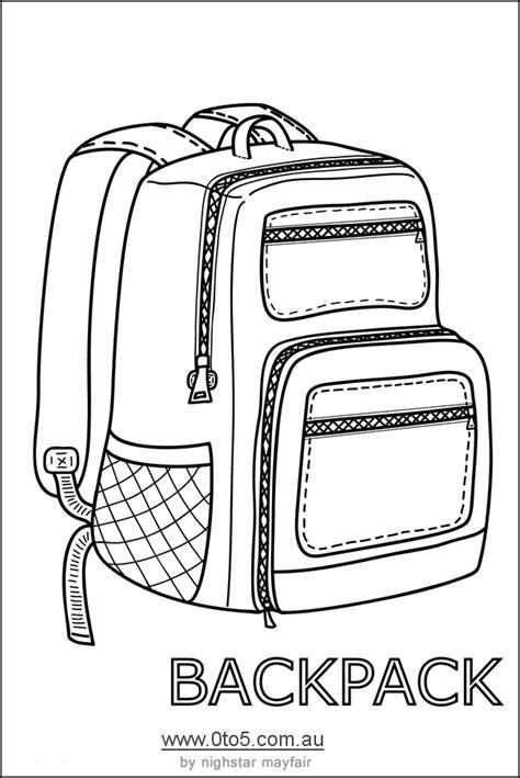 backpack template backpack or rucksack printable template craft ideas