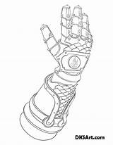 Gauntlet Coloring Outline Gauntlets Line Knight Printable Would Wear Link Fire sketch template