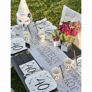 Deco Anniversaire 10 Ans : assiette carton anniversaire 40 ans les 10 d co anniversaire 40 ans ~ Melissatoandfro.com Idées de Décoration