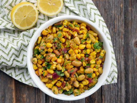 indian bean  corn salad  heart beets