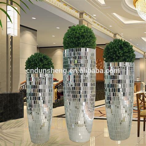 floor standing mirror vase wholesale wedding large floor standing silver mirrored mosaic decorative vase contemporary buy