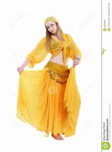Attractive Woman In Traditional Costume Gypsy Stock Photo ...
