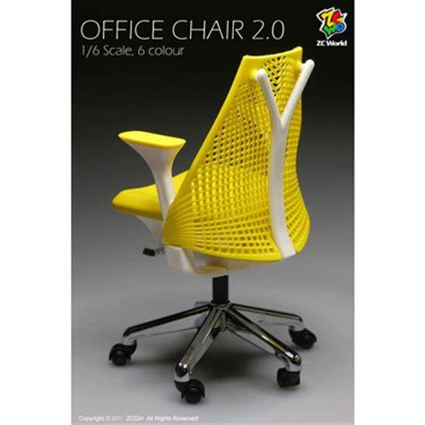 chaise de bureau version 2 jaune machinegun
