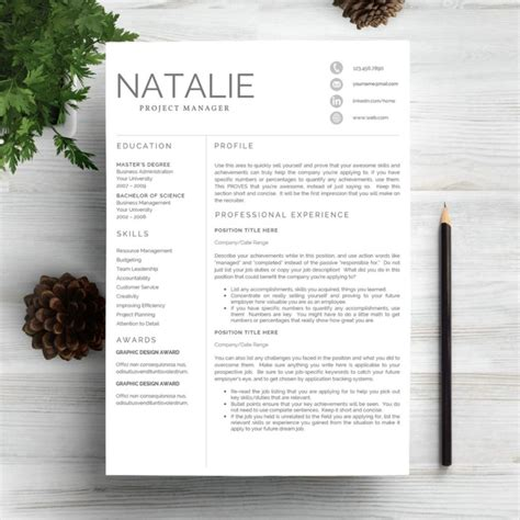 editable resume in word format 20 mba resume template word indesign and psd template graphic cloud