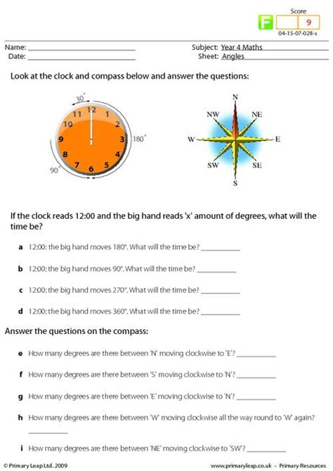 compass worksheet worksheets for all and