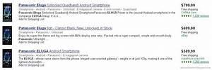 Panasonic Eluga Specs  Manual And Price Comparison