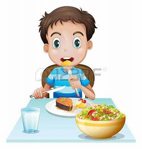 Child Eating Breakfast Clipart – 101 Clip Art