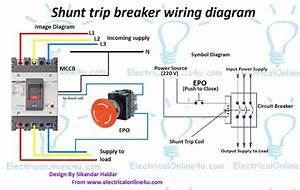 Shunt Trip Breaker Wiring Diagram Explanation