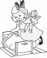 Coloring Doll Pages sketch template