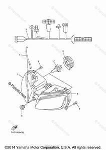 Yamaha Motorcycle 2000 Oem Parts Diagram For Headlight