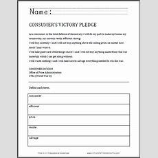 Consumer's Victory Pledge (world War Ii) Worksheet  Free To Print (pdf File