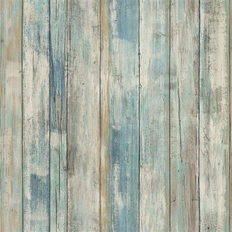 tile that looks like wood rmk9052wp blue distressed wood peel and stick wallpaper ebay