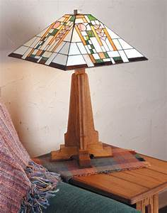 Arts & Crafts Style Table Lamp Plans Wood Projects Online