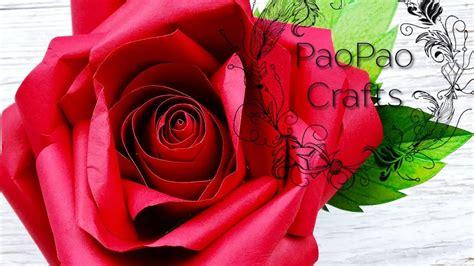 ROSA DE PAPEL FLORES EN PAPEL MOLDES GRATIS HOW TO
