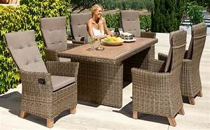 Gartenmobelset toskana deluxe 13 tlg 6 sessel tisch for Garten planen mit balkon eckbank set